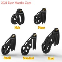 Massage Items 3D Resin Male Chastity Cage 5 Size Cock With Double-Arc Cuff Penis Ring Restraints BDSM Adult Sex Toys For Men Bel