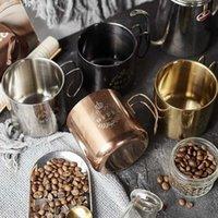 Кружки творческие из нержавеющей стали кофейная чашка металлическая кружка с крышкой пивной кокс завтрак молочный праздник сувенирный подарок домашний декор