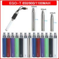 EGO-T 650 mAH 900 mAh 1100 mAh Vape Kalem Pil E Sigara 510 Perişme 10 Renkler Elektronik Sigaralar için Vapes Atomizer Buharlaştırıcılar