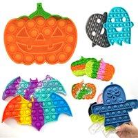 DHLPopular Halloween Push Bubble Fidget Giocattoli per adulti Stress Stress Giocattolo Antistress Popoli Soft Squishy Anti-stress Regali all'ingrosso
