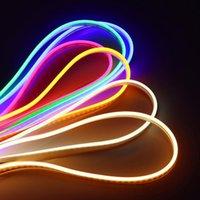 Strips DC 12V Neon Light 20m 15m 10m 5M 2M 1M Signe de tube de tube en caoutchouc souple 6mm rose chaud blanc bleu 2835 LED bande 120leds / m