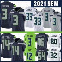Seattle Seahawks 3 Russell Wilson 14 DK Metcalf Football Jersey 33 Jamal Adams 54 Bobby Wagner 16 Tyler Lockett 12 12th Fan 12s jerseys