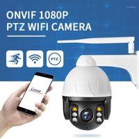 1080P PTZ WIFI Caméra IP Outdoor 4x Digital Zoom AI Détection humaine Caméra sans fil H.264 Sécurité audio 2MP CCTV1