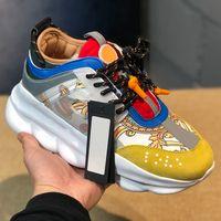 Reação em cadeia Das Mulheres Dos Homens Sapatos Baixos Moda de Luxo Designer de Sapatos Cadeia de Neve Leopardo Ocasional Sapatos Formadores Botas Sapatilhas
