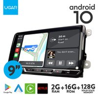 UGAR Android 10.0 player for 128G Solid State Memory Volkswagen Universal Car-DVD Radio with Carplay Android-Auto GPS Navigation Wifi Bluetooth