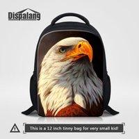 Рюкзак Dispalang лысый орел отпечатки 12 дюймов маленькие детские школьные сумки дети детский сад малыша сумка на плечо мини Ruckack