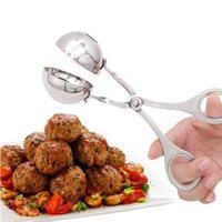 Nuevo práctico cómodo fabricante de albóndigas de carne de meatral de acero inoxidable Clip de albóndiga DIY Peces carne de arroz Fabricante de bolas de arroz útil FWD9536