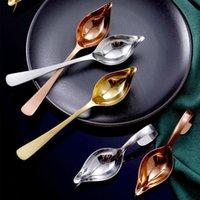 Acciaio inossidabile Maniglia lunga Anatra Anatra Salsa Scoop Tableware Cooking Tool Coffee Spoon Chef Mini Torta Decorazione matita