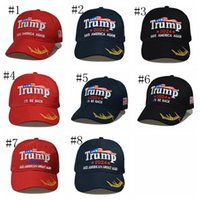 Più nuovo Trump Baseball Cap USA Elezione presidenziale Elezione Trmup Same Style Cappello Ambroided Ponytail Palla Berb Berretto da salto marino ZZC5271
