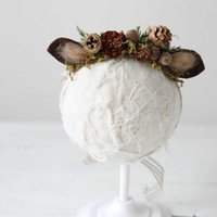 11 стиль кошка ушные повязки для девочек новорожденного поглажина PROP детские аксессуары для волос PO рождественские цветы Thatback Halo оголовье