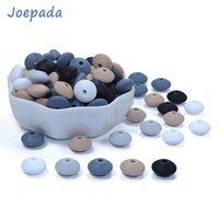 Joepada 300pcs / lote 12mm Silicone dentição beads lentilhas abacus dêdêquinas contas para diy bebê chupeta chain alimentos by by tether 210311