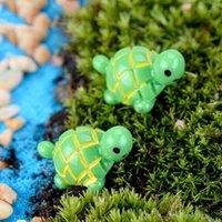 Carino Mini Tartarughe Ornamenti Paesaggio Resina Decorazioni Giardino Fata Giardino Giardino Miniature Giardino Bonsai Decorazioni Dollhouse Resin HHD10543