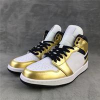 1 mi niveau métallique Hommes chaussures d'athlétisme Mode Chaussures de sport en plein air 1S og OG Gold White Woman Chaussures entraîneurs