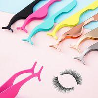 Yanlış Kirpikler 50 adet 9 Renk Plastik Cımbız Kirpik Uzatma Araçları Güzellik Makyaj Yardımcı Kelepçe Uygulama Klipleri Göz Lash Bigudi