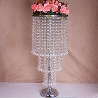 Parti Dekorasyon Akrilik Kristal Düğün Centerpiece / Masa Çiçek Topu Tutucu Vazo Olay Dekor Yolu Talepleri