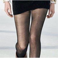 Klassischer Brief Strumpfhosen Sexy Strumpfhosen Strümpfe Frauen Seide Strumpfhosen Elastische dünne Strumpfhosen Kleid Bootstrümpfe wärmer enge Leggings