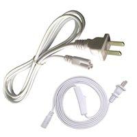 Cables de alimentación con interruptor 6FT 180 cm Cable de conector de doble extremo para T5 T8 LED LED integrado Tubo LED de 2 PIN Lámpara LED Lámpara LED Conexión de cable En stock