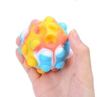 3D Fidget Toys Push Bubble Ball Game Sensory Toy Snowman ChristmasTree For Autism Special Needs Adhd Squishy Stress Reliever Kid EWF11061