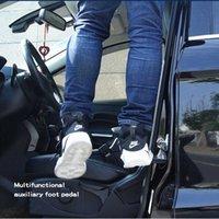 Porta de carro Pedal Pedal Stepping Ladder Pegs Pegs para carro dobrável Auto Doorstep Acesso fácil ao carro Rack com martelo de segurança
