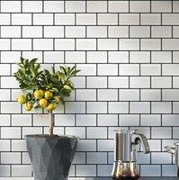 Art3D 30x30cm 3D muurstickers zelfklevende schil en stick backsplash voor keuken badkamer, metro tegels, achtergronden (10-delige, dikkere ontwerp)