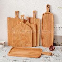 Quadratische Küche Hackblock Holz Home Schneidebrett Kuchen Sushi Platte Servierschalen Brotschale Fruchtplatte Sushi Tray Steak Tablett FY6032