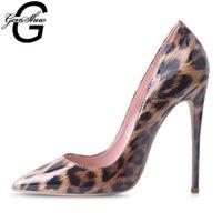 하이힐 신발 여성 레오파드 프린트 섹시한 뾰족한 발가락 스틸 펌프 펌프 10 12cm 파티 힐 디자이너 플러스 사이즈 11 12 210610
