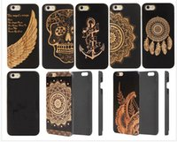 2018 Design Black Bamboo Wood Case For iphone 8 plus 7 6 6s X Stylish Engrave Wood Phone Cover For Samsung S9 S7edge S8 Note8