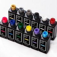 Гель для ногтей 15 мл / бутылка художественная роспись линия ручка 12 цвет ультрафиолетового ультрафабриката тонкая флуоресценция впитается на краской рисунок маникюр инструмент VK # 23