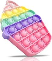 Giocattolo della bolla di stress sensoriale irrequieto, giocattolo della spinta del fidtat per bambini, giocattoli di stress del silicone pop per i bambini autistici Adulto (Torta della tazza)