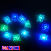 LED Buz Küpleri 7 Renk Değiştirme Gece Light Up Glow Lambası Düğün Dekorasyon Parti Bira Cam Su Indüksiyon için