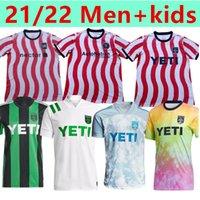 21 22 MLS Austin FC Camisas de futebol Inaugural 2021 Home Black Away Branco Dario Conca Kleber Xavier Baez personalizar homens + crianças camisas de futebol