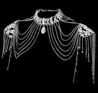 Cadena de hombro nupcial 2021 NUEVO NUEVO NOMBRICA CRISTAL CRISTAL DE CRISTAL DE HORNO Vestido de rendimiento Princesa Accesorios Hombro Cadena 030902