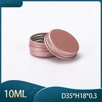 Boîtiers en aluminium en aluminium de 10 ml rose Baume vide Baume à lèvres conteneur Cosmétic Maquillage Cream Sample Mini Boîte