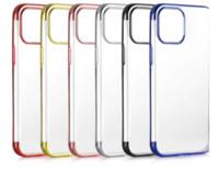 Plattieren Soft TPU für iPhone 12 Mini PRO 11 PRO MAX XS X XR 8 7 6 PLUS ELEKTROPLATE Verchromt Metallic Bling Luxus Telefonabdeckung Haut Back Case