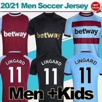 2020 2021 Futbol Forması Lingard Bowen Benrahma Dawson Ev Kırmızı Uzaktan Mavi Üçüncü Siyah Futbol Gömlek Yetişkin Futbol Gömlek Üniformaları Özelleştirilmiş Erkekler Çocuklar