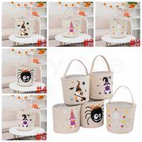 Halloween Candy Tote Bag Pumpkin Sugar Bucket Children's Hand Basket Decorative Items 24*23cm Party Supplies 6styles RRA4347