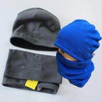 Unisex Beanies Winter Fleece Hat and Scarf Set Luxurys Letter Hats Windproof Neck Gaiter Designer Warm Scarves Skull Caps Sets Men Women Neckerchief 4 Colors
