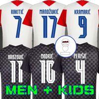 20 21 Mandzukic 홈 멀리 ostic 축구 유니폼 Perisic Rakitic Srna Kovacic Brozovic Rebic Football Shirts 성인 남성 + 키트 키트