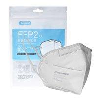 UPS 3-7 Entrega rápida ¡Grande! Máscara protectora FFP2 con la capa elástica de las orejas de 5 capas transpirable para bloquear el polvo anti-la máscara de la contaminación