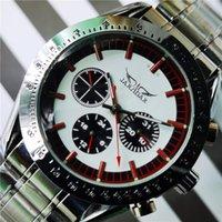 Polshorloges jaragar mannen mechanische horloge automatische polshorloge roestvrijstalen stijl auto datum sport horloges mannelijke gift klok