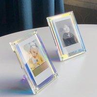 Cornici acrilici Forte magnetico magnetico magnetico da 3 pollici Polaroid Polaroid telaio PO TRASPARENTE PROMOTIONAL DISPLAY STAND Etichetta carta