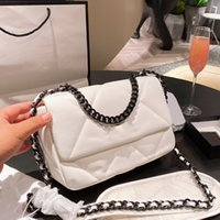 Top Fashion Womens Classic Single Flap 19 Bag Quilted Crossbody Shoulder Chain Handle Totes Luxury Designer Lady Girls Lovely Outdoor Sacoche Purse Handbags 26*20cm