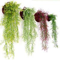 Искусственные цветы Vine Ivy Leaf Silk Howing Vine Поддельные заводы Искусственные растения Зеленая Гирлянда Главная Свадьба Украшения ООД5523