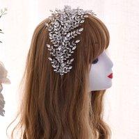 Topqueen HP312 Silver Silver StRystone Wedding Hewpieces Accessori per capelli Bridali Tiara Bordare la corona da sposa Bridal Bridal Fascia