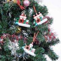 2021スタイリッシュなパーソナライズされたクリスマスの装飾Diyペンダント素敵な樹脂雪だるまペンダントパーティー小さなギフト卸売