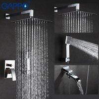 Gappo 샤워 시스템 폭포 큰 샤워 크롬 비가 욕실 수도꼭지 탭 벽 장착 욕조 믹서