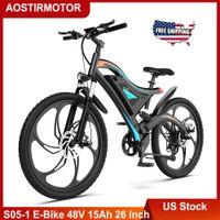 US сток Aostirmotor S05-1 Электрический велосипед 500 Вт Горная Ebike 48V 15ah Литиевая батарея Beach City Cruiser Bike