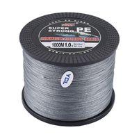 Yudeli 1.0 Номер линии Супер прочные 4 Strand 1000M Premium PE плетеная рыбалка Line Lake Multifaliament проволока тканая нить