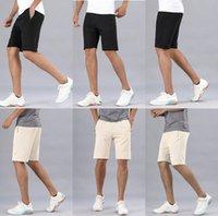 lulu men pant short pants gym quick dry loose drawstring elastic waist knee length beach designer lu sweatpants fintness trouser mens shorts o6ka#