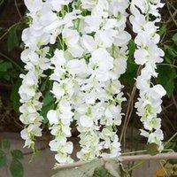 Decorative Flowers & Wreaths Artificial Wisteria Flower Hanging Hydrangea Vine Wedding Bathroom Garlands Decoration Accessories For Scrapboo